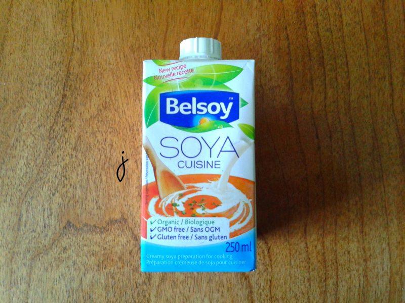 La crème végétale de Belsoy (emballage)