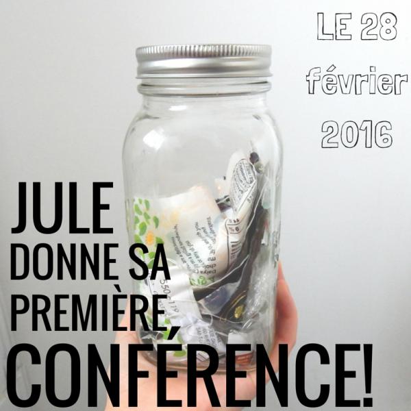 Jule donne sa première conférence!