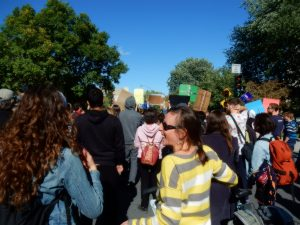 Manifestants écologistes à Montréal