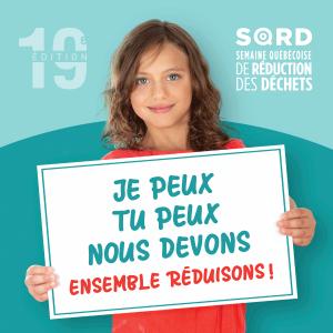 Visuel de la Semaine québécoise de réduction des déchets 2019.
